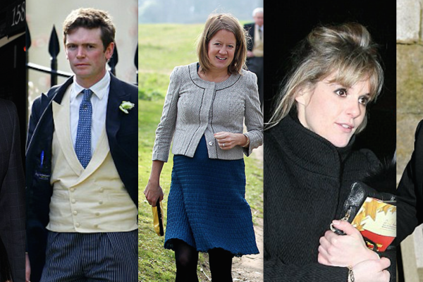 Adam Middleton, James Meade, Laura Fellowes, Sophie Carter y Thomas van Straubenzee serán los padrinos de la princesa Charlotte.