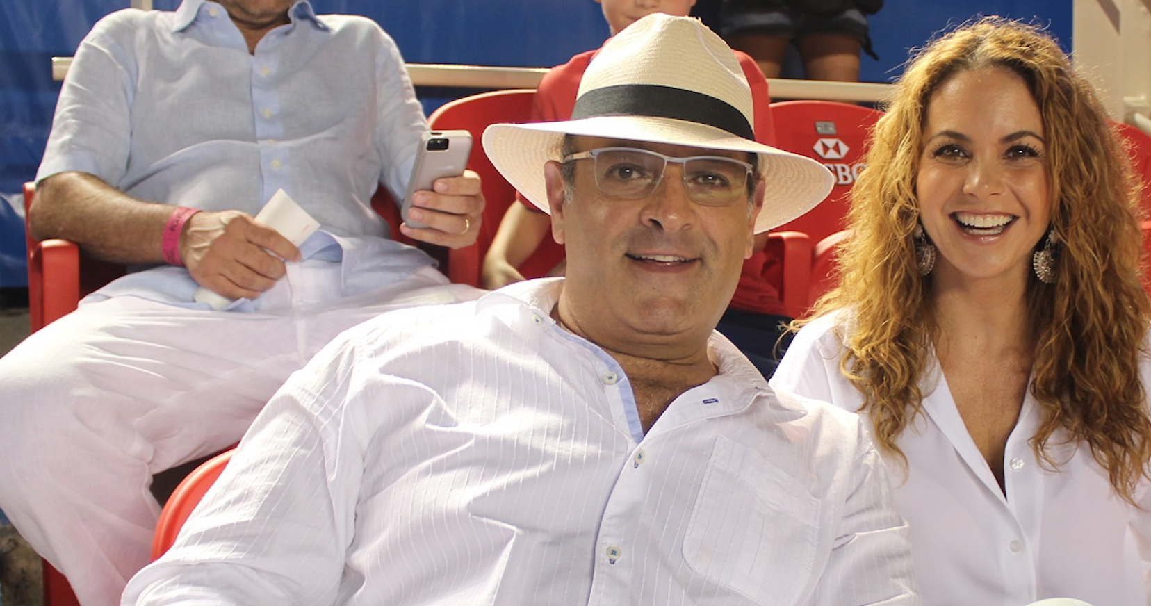 Michel y Lucero en el Abierto Mexicano de Acapulco a principios de este año. (Foto: viviresundeporte).