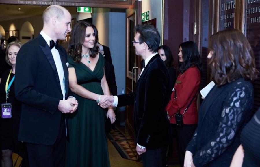 """Catherine Middleton dice """"no"""" al negro riguroso de Times Up en los Bafta y desata polémica"""