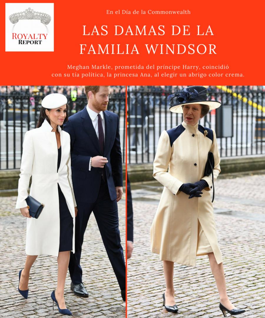 El día que Meghan Markle eclipsó a Kate Middleton Se trataba del primer acto oficial junto a la reina Isabel II y el círculo duro de la Familia Real en el cual la prometida del príncipe Harry se mueve como pez en el agua y deslumbra con un estilo propio.