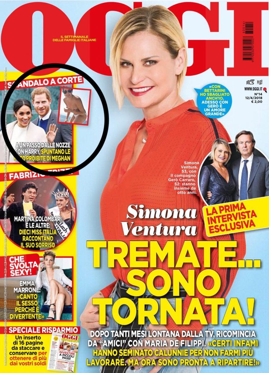 El topless de Meghan Markle publicado por la revista Oggi y del que el Palacio de Buckingham no quiere hablar